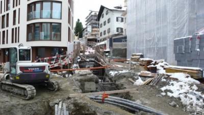 Baustelle in St. Moritz